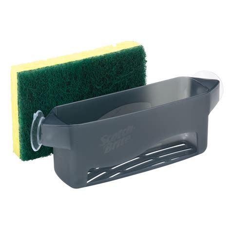 sponge caddy for sink shop scotch brite plastic sink sponge holder at lowes com