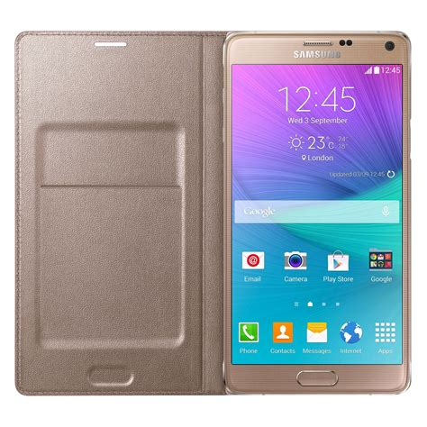 Samsung Led Wallet Note 4 samsung led flip wallet for samsung galaxy note 4 gold