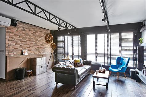 industrial chic hdb flat homes  trendy ideas home