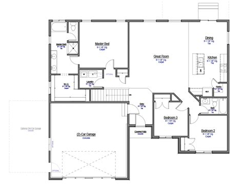 mckayla utah home floor plan  thomas homes