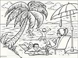 Beach Vector Clip Cartoons Illustration Drawing Activity Illustrations Istock Only Istockphoto Rf sketch template