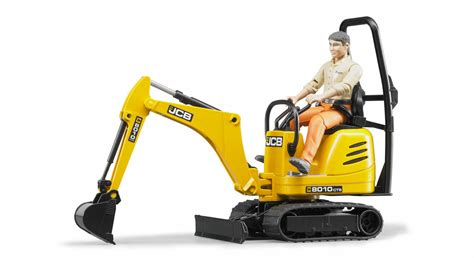 bruder jcb micro excavator  cts construction worker toy
