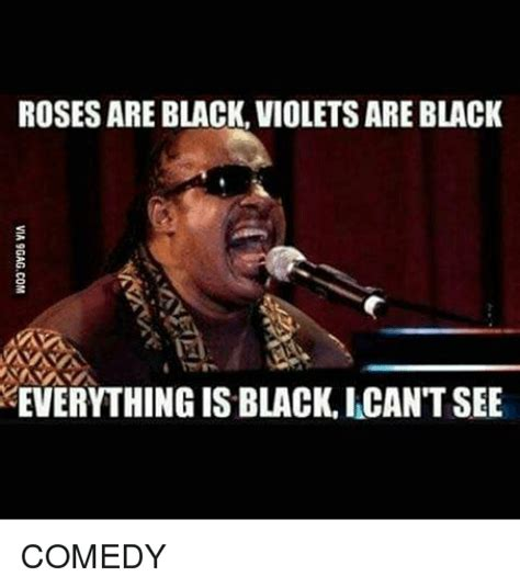Black Comedian Meme - rosesare black violets are black everything is black icant see comedy meme on sizzle