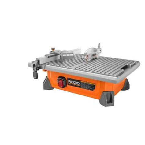 home depot tile saws ridgid 7 in site tile saw r4020 the home depot