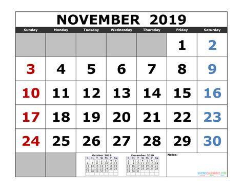 november printable calendar template month calendar