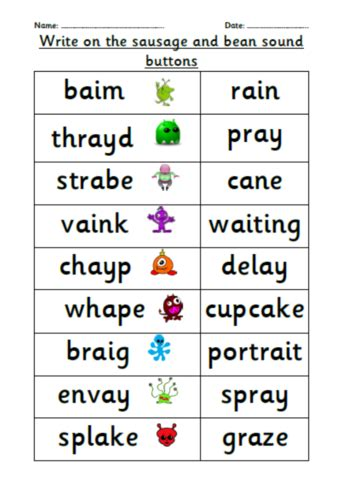 Year 1 Phonics Screening Check Practice By Choralsongster  Teaching Resources Tes
