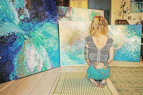 interview ethereal marbled paintings express
