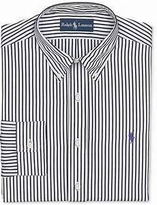 White and Black Vertical Striped Dress Shirt: Polo Ralph ...