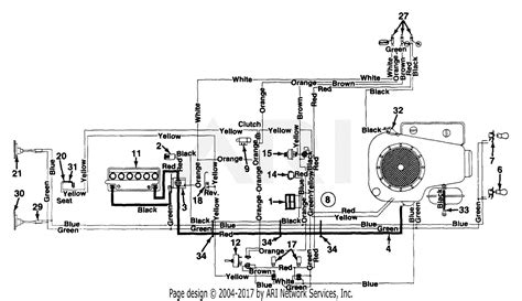 mtd 133r696g190 lt 145 1993 parts diagram for electrical schematic lt 145