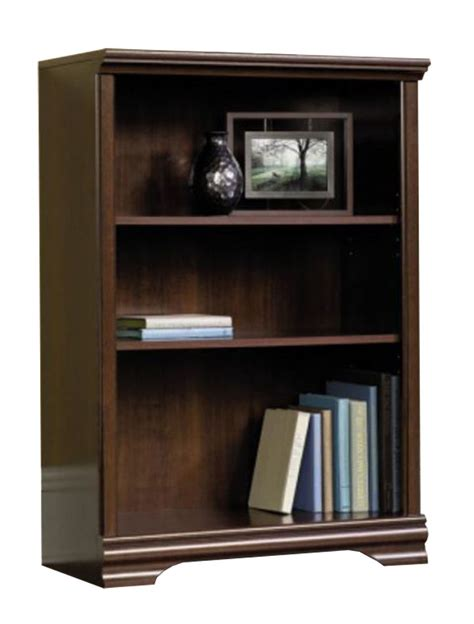 3 Shelf Bookcase by 3 Shelf Adjustable Bookcase Cherry Color