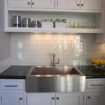 white kitchen glass backsplash gray subway tile backsplash design ideas 1377