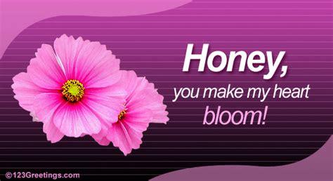 honey  flowers ecards greeting cards