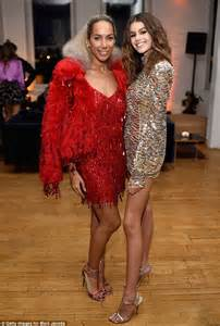 Leona Lewis wears scarlet dress at Marc Jacobs NYC event ...