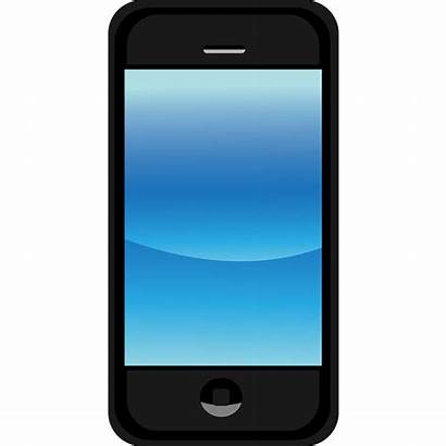 Smartphone Phone Clipart Animated Cellphone Touch Mobile