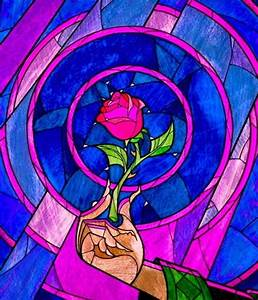 Stained glass rose--beauty and the beast | nerd | Pinterest