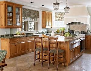 elegant kitchens with warm wood cabinets traditional home With what kind of paint to use on kitchen cabinets for georgia stickers