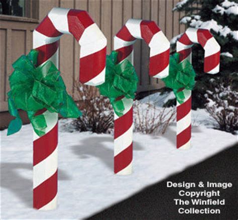 christmas landscape timber candy cane plans