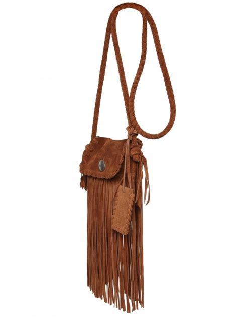 lyst ralph lauren suede fringe shoulder bag  brown