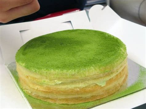 green tea milk crepes picture  lady  cake