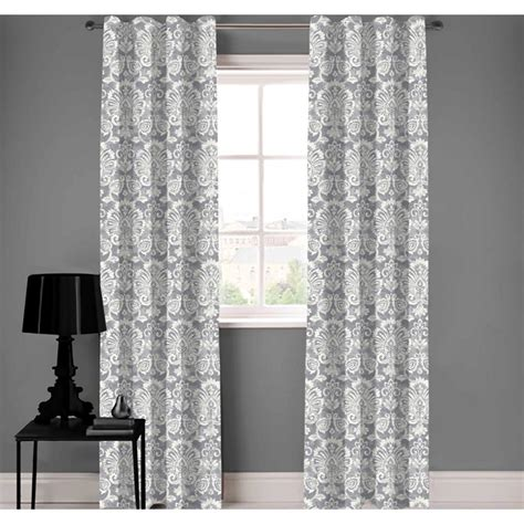 Organic Cotton Drapes - a1 home collections emily damask designer organic cotton