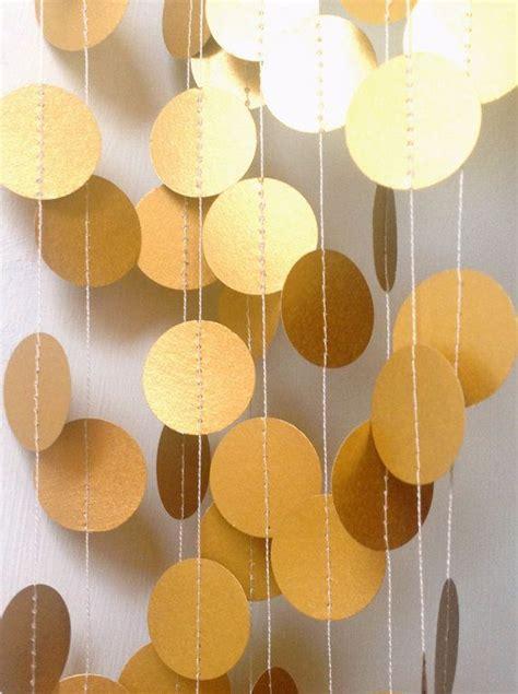 gold decor gold garland paper garland wedding garland wedding decoration gold wedding party decor