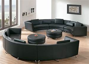 Sofa Runde Form : round sectional sofa for unique seating alternative ~ Lateststills.com Haus und Dekorationen