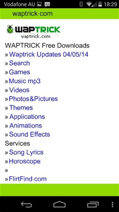 www waptrick android waptrick free downloads app for android