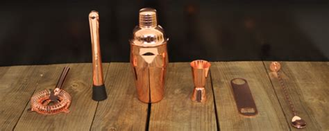 Cocktail Kit Copper 6 Piece In Gift Box