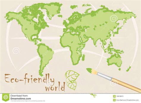 Map Of Ecofriendly World Stock Illustration Illustration