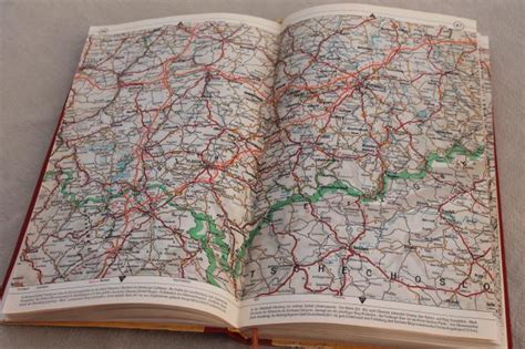 vintage shell auto atlas book  road maps germany