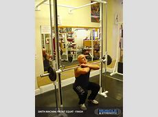 Smith Machine Front Squat Video Exercise Guide & Tips