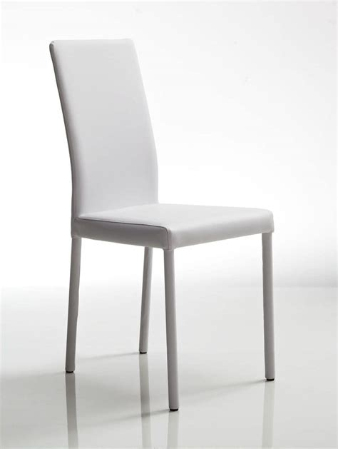 white leather chair steel frame for restaurant and