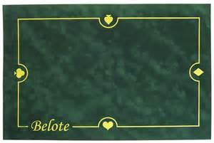 Tapis Jeu De Carte Belote by Cartes Production Tapis Belote Sudine Cartes Production