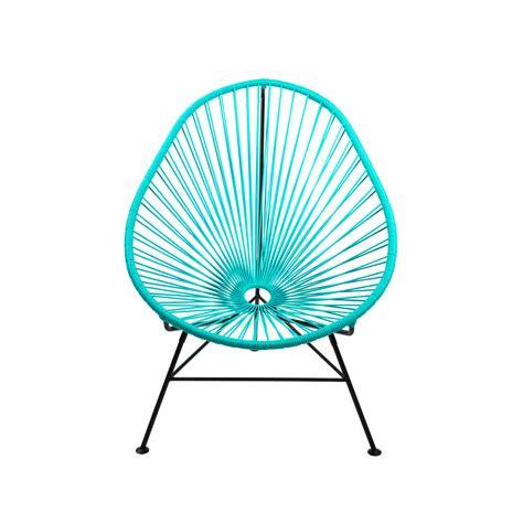 acapulco modern steel lounge chair black frame