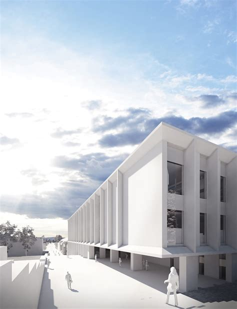 white render selection brick visual architecture
