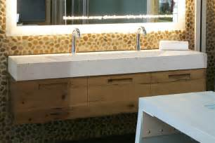 Trough Sink Vanity With Two Faucets by Ekostone Trough Sink Gracing The Watg Award Tubs And More