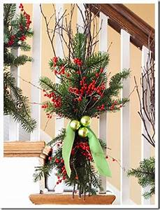Stairway Railing Christmas Decor holidays