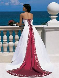 Goalpostlk.: White and Red Wedding Dresses