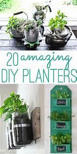 Kräutergarten In Der Wohnung : diy planters 20 amazing ideas you can make yourself ~ Watch28wear.com Haus und Dekorationen