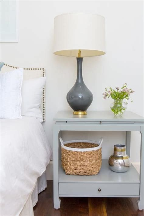 bedroom nightstand lights gray nightstand with charcoal gray l transitional 10584   39a70a3c21313cd531a1ba4aed9fb5fc