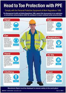 Head To Toe Ppe Protection Visual Guide Poster