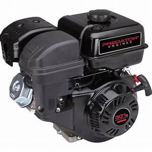 8 Hp  301cc  Ohv Horizontal Shaft Gas Engine Epa  Carb