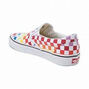 Rainbow Sandals Size Chart Vans Slip On Rainbow Chex Skate Shoe Multi 497267