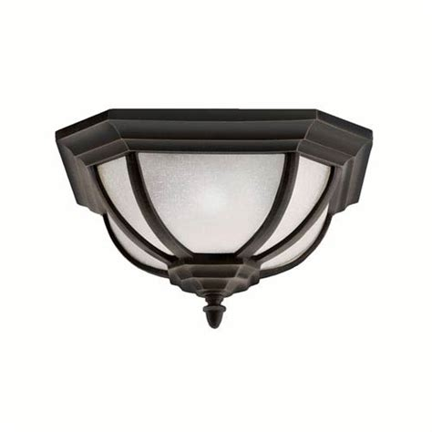 salisbury outdoor rubbed bronze flush mount ceiling light
