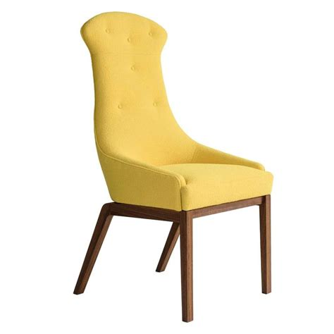 evander dining chair in yellow wool boucl 233 or leather with