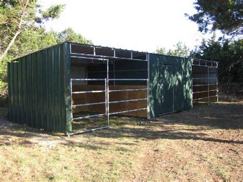 cattle run in shed lonestar custom barns