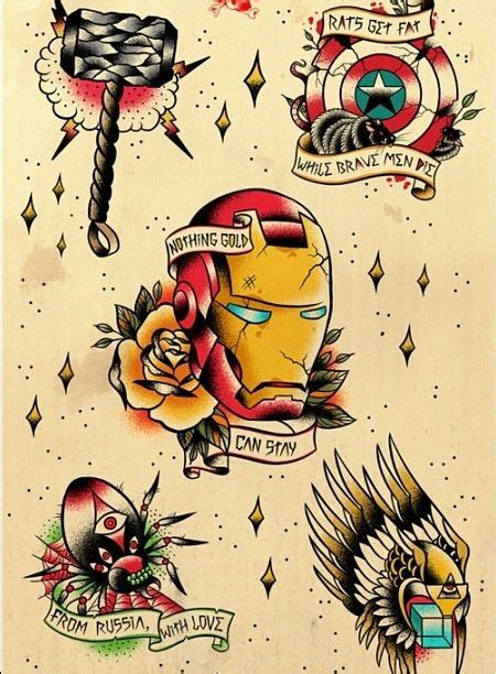 avengers traditional american tattoo flash ink