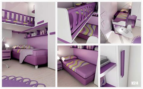 chambre en mezzanine chambre enfant design avec lits superposés