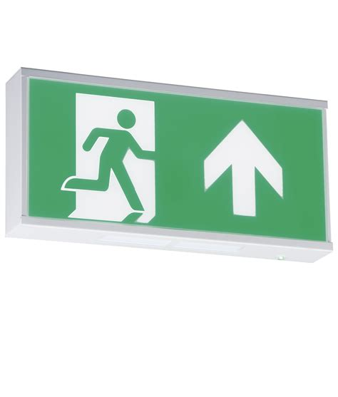wall mounted emergency exit sign