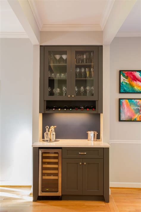 Built In Home Bar Ideas by The New Custom Built In Bar With Wine Storage Acts As